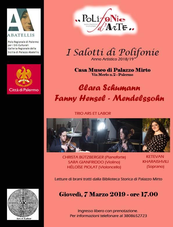 Clara Schumann e Fanny Hensel - Mendelssohn per Polifonie d'arte a Palermo